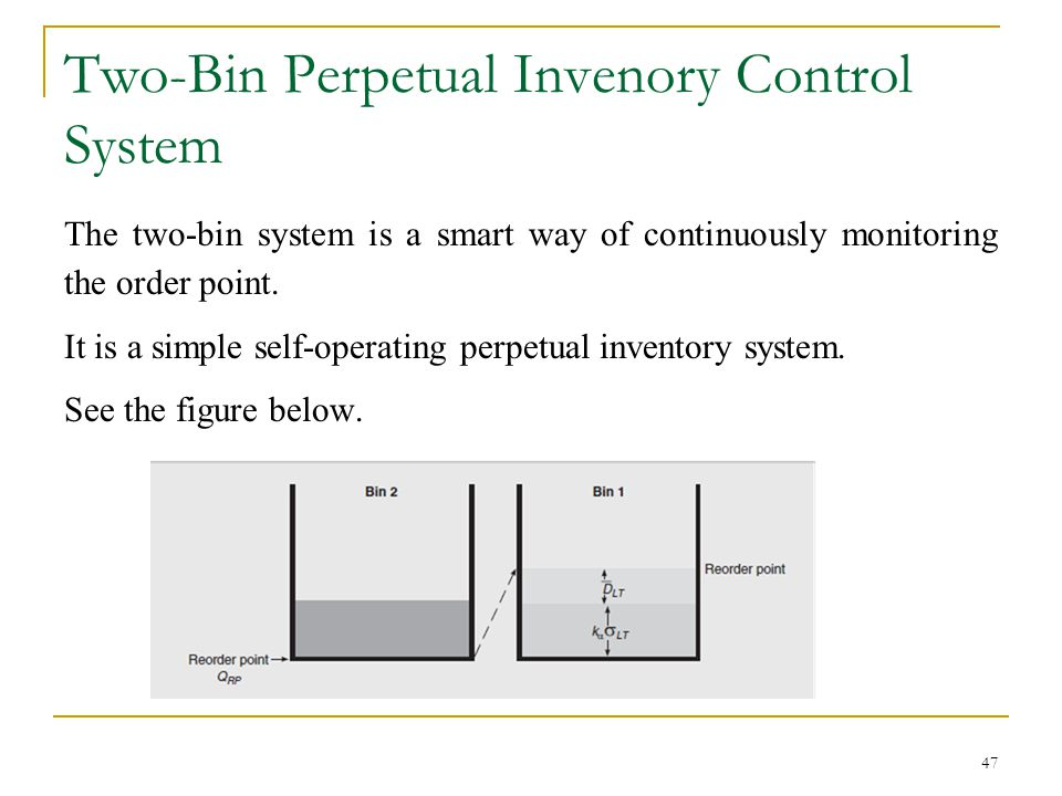 Two-Bin Perpetual Invenory Control System