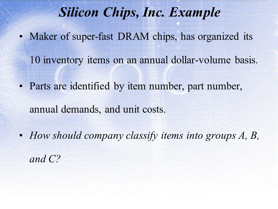 Silicon Chips, Inc. Example