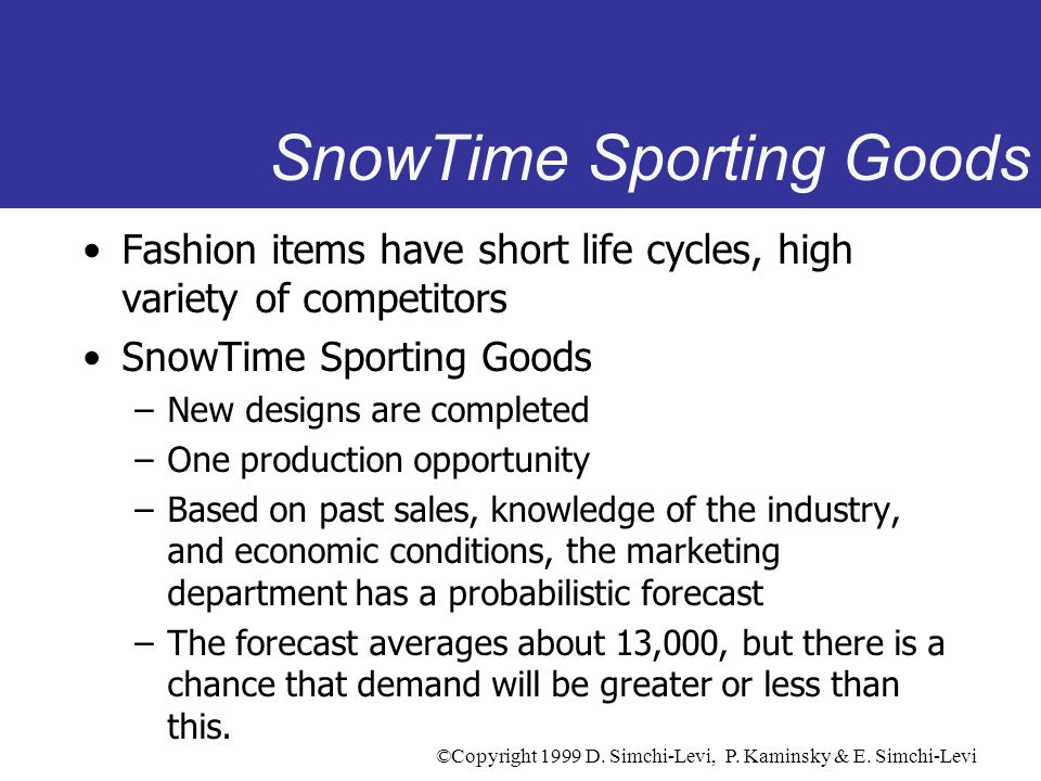 SnowTime Sporting Goods