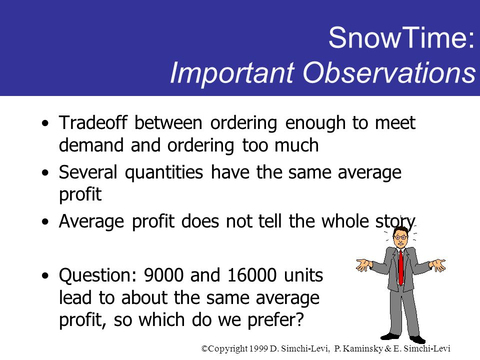 SnowTime: Important Observations