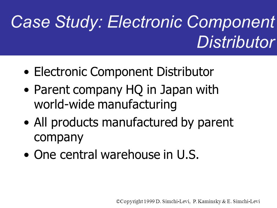 Case Study: Electronic Component Distributor