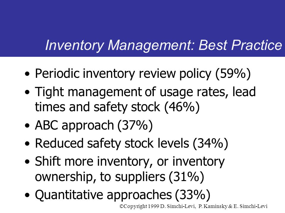 Inventory Management: Best Practice