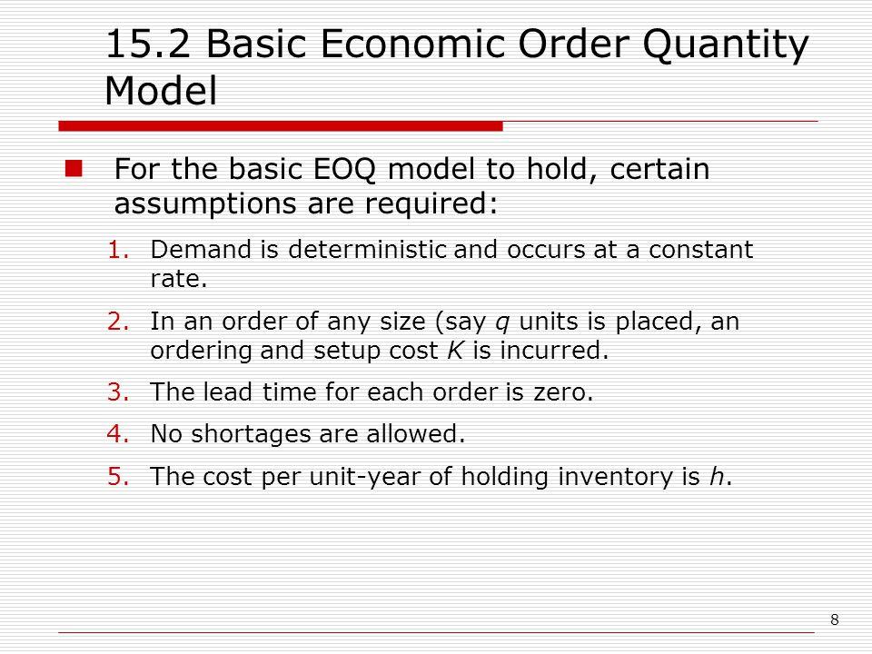 15.2 Basic Economic Order Quantity Model