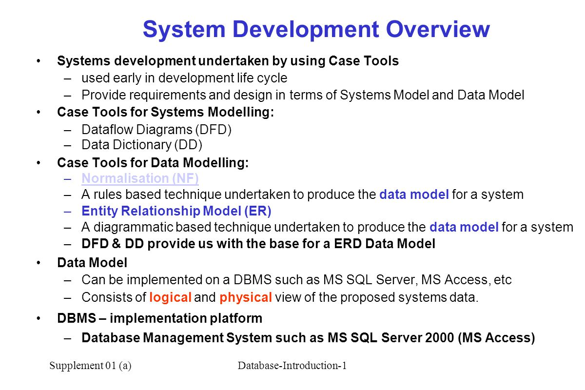 System Development Overview