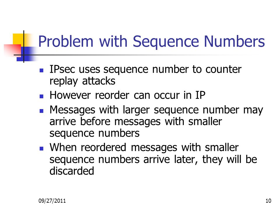 Problem with Sequence Numbers