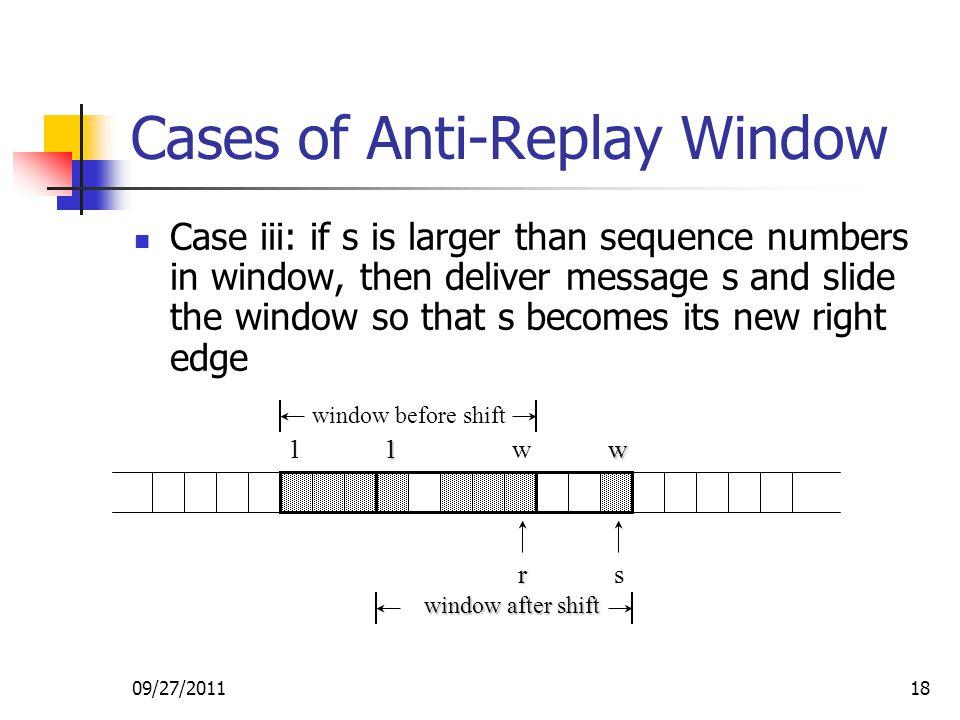 Cases of Anti-Replay Window