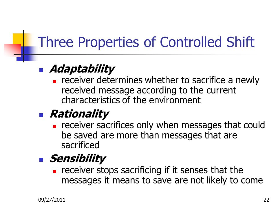 Three Properties of Controlled Shift
