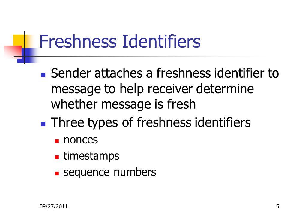 Freshness Identifiers
