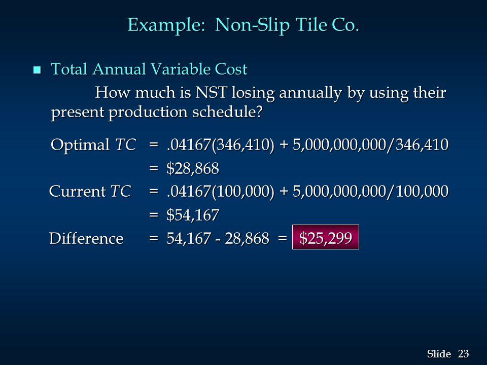 Example: Non-Slip Tile Co.