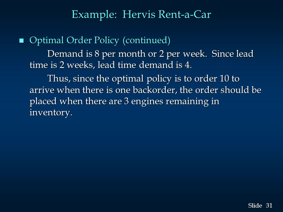 Example: Hervis Rent-a-Car