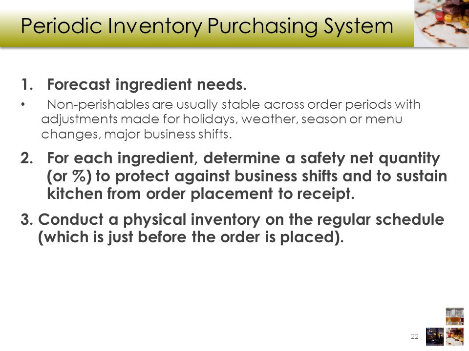 Periodic Inventory Purchasing System