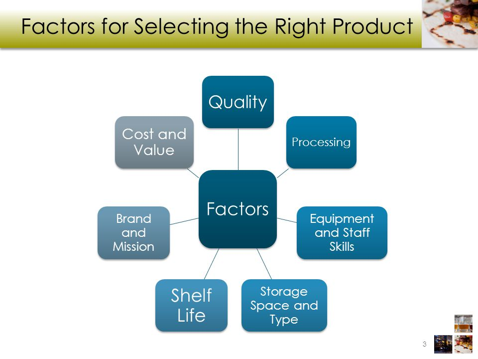 Factors for Selecting the Right Product