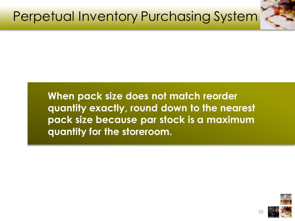 Perpetual Inventory Purchasing System