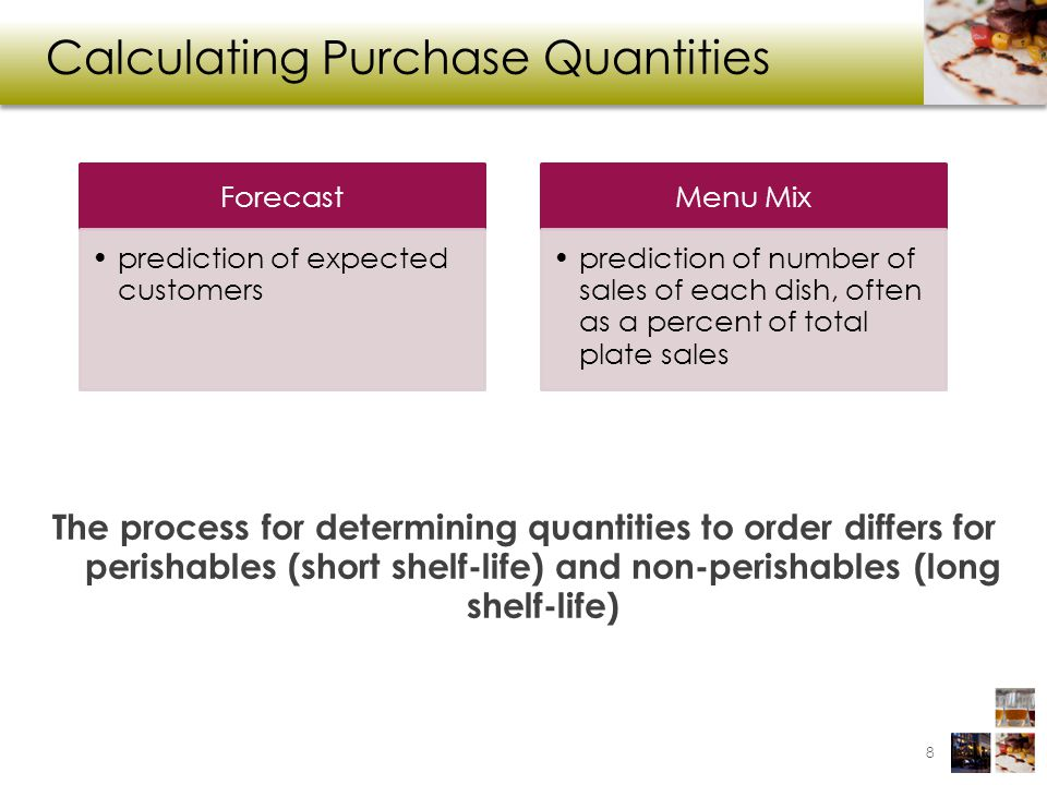 Calculating Purchase Quantities