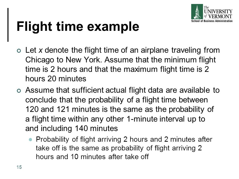 Flight time example