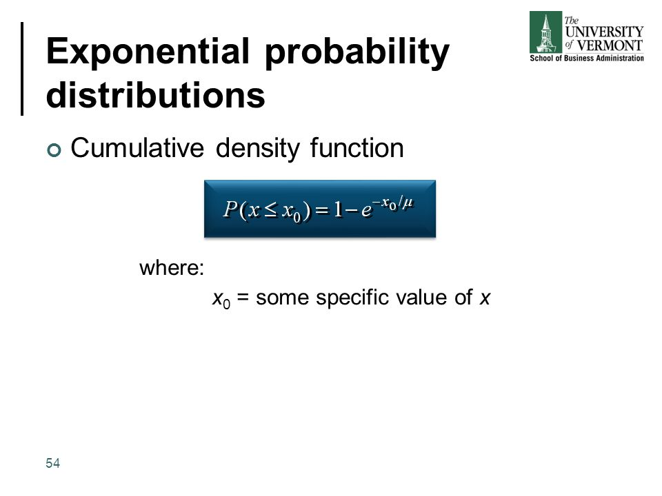 Exponential probability distributions