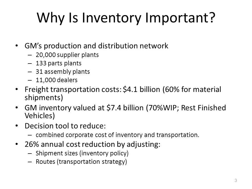 Why Is Inventory Important