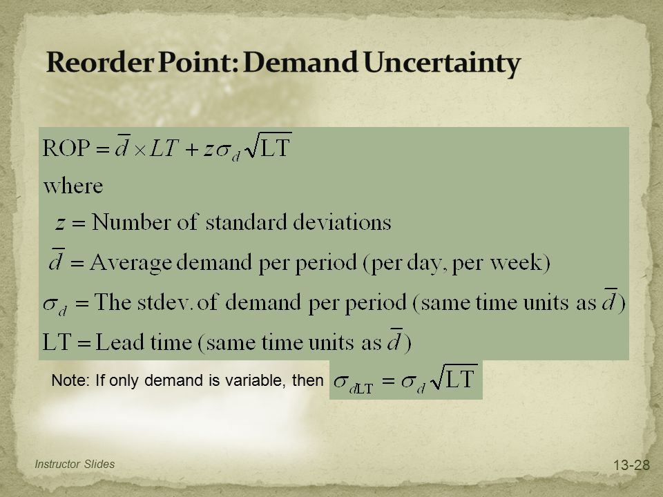 Reorder Point: Demand Uncertainty