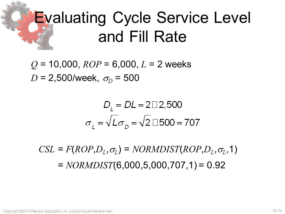 Evaluating Cycle Service Level and Fill Rate