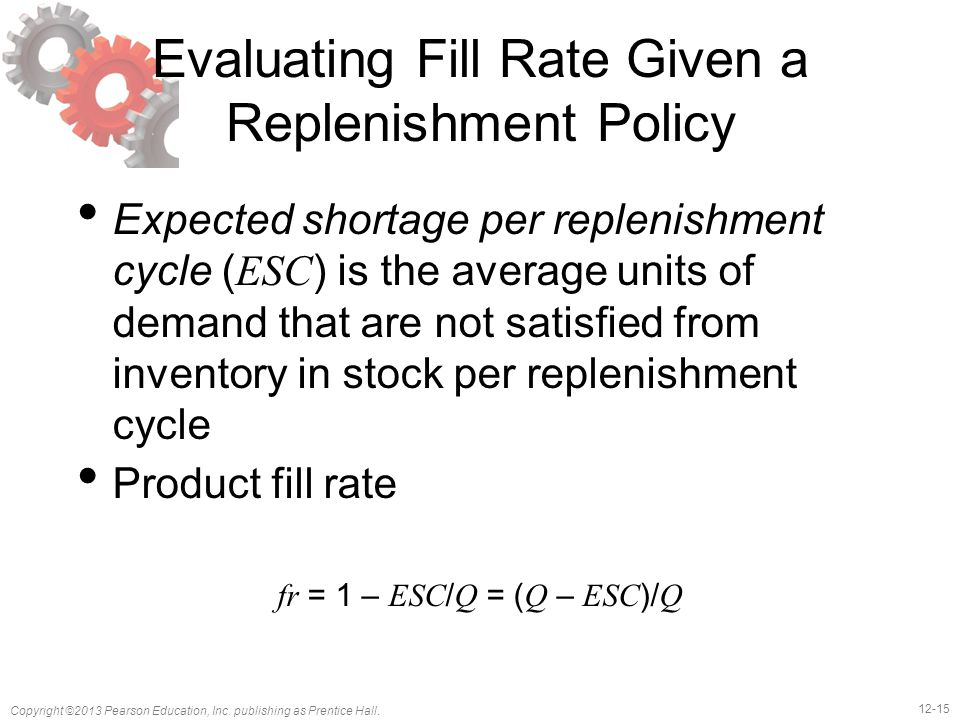 Evaluating Fill Rate Given a Replenishment Policy