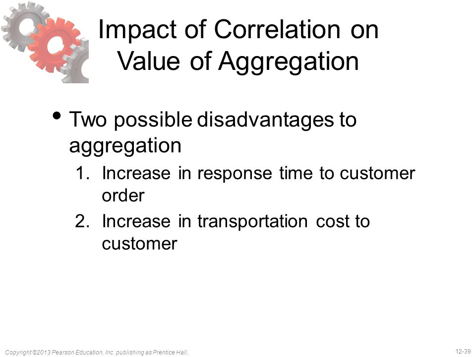 Impact of Correlation on Value of Aggregation