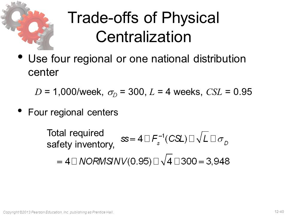 Trade-offs of Physical Centralization