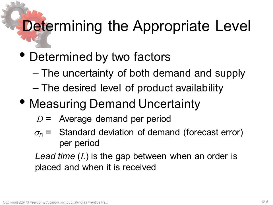 Determining the Appropriate Level