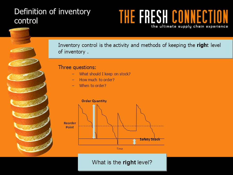 Definition of inventory control