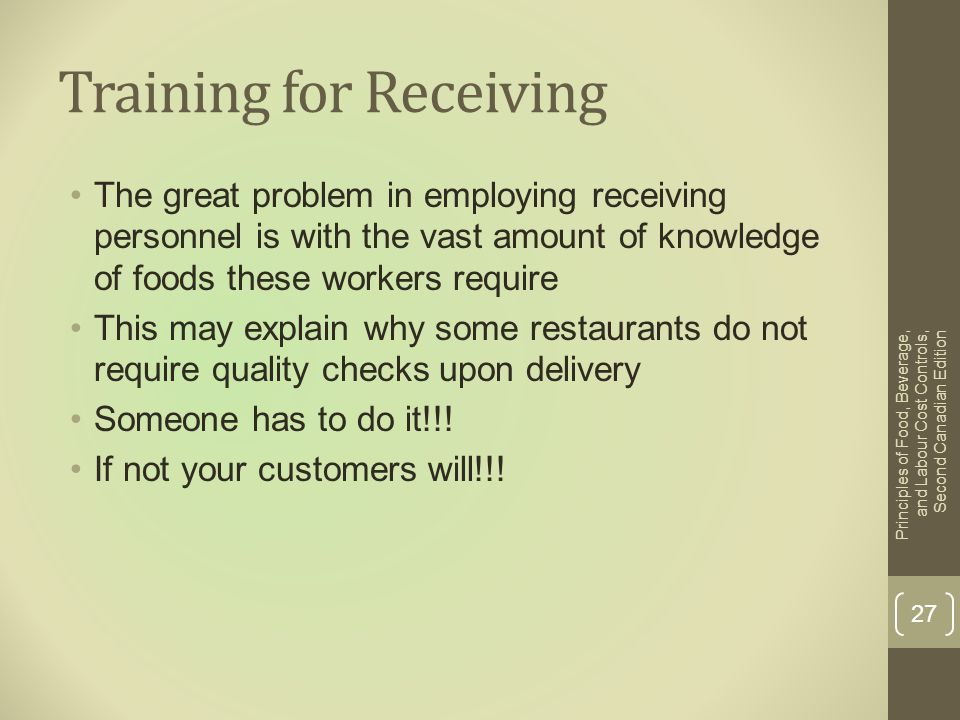 Training for Receiving
