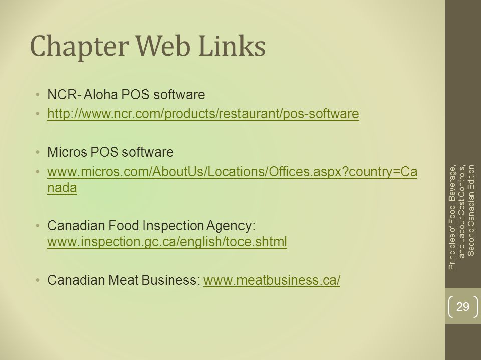 Chapter Web Links NCR- Aloha POS software