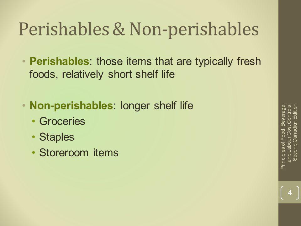 Perishables & Non-perishables