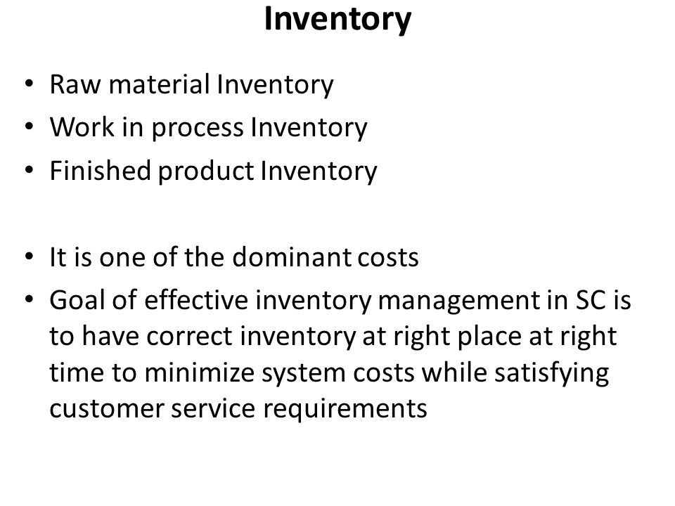 Inventory Raw material Inventory Work in process Inventory