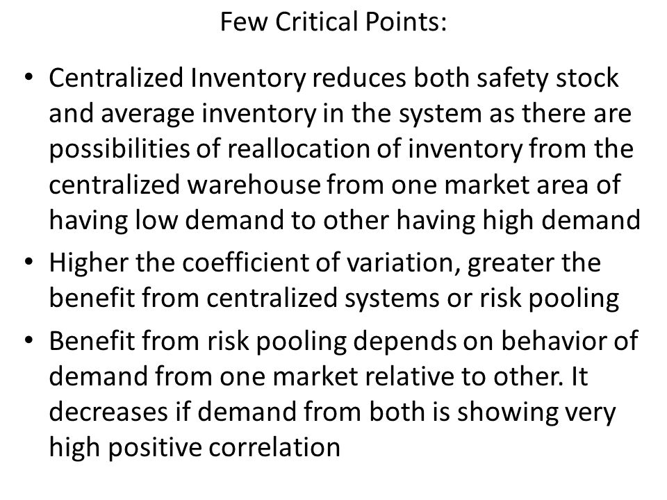 Few Critical Points: