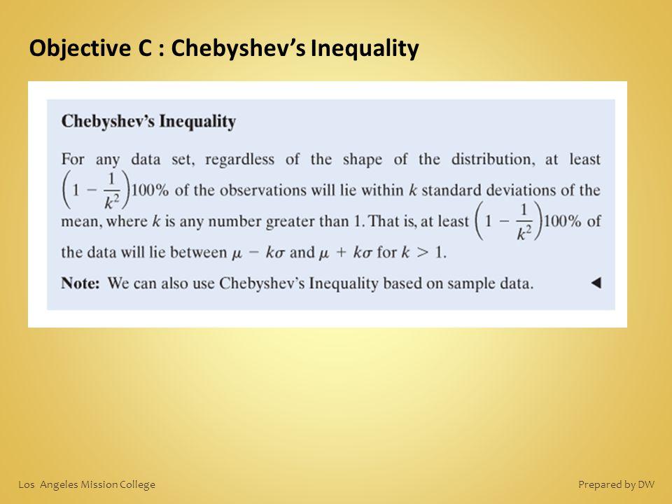 Objective C : Chebyshev's Inequality