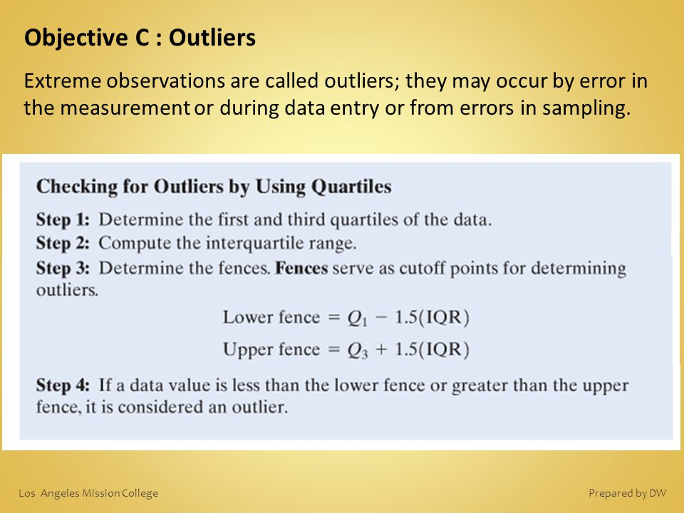 Objective C : Outliers