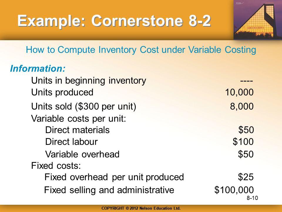 Example: Cornerstone 8-2
