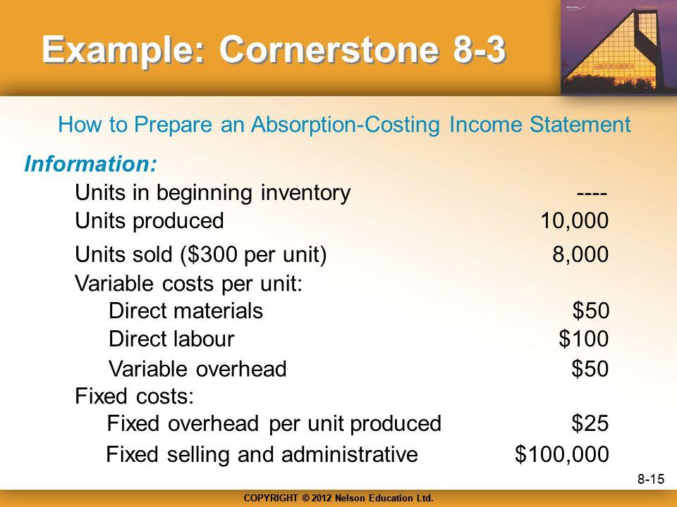 Example: Cornerstone 8-3