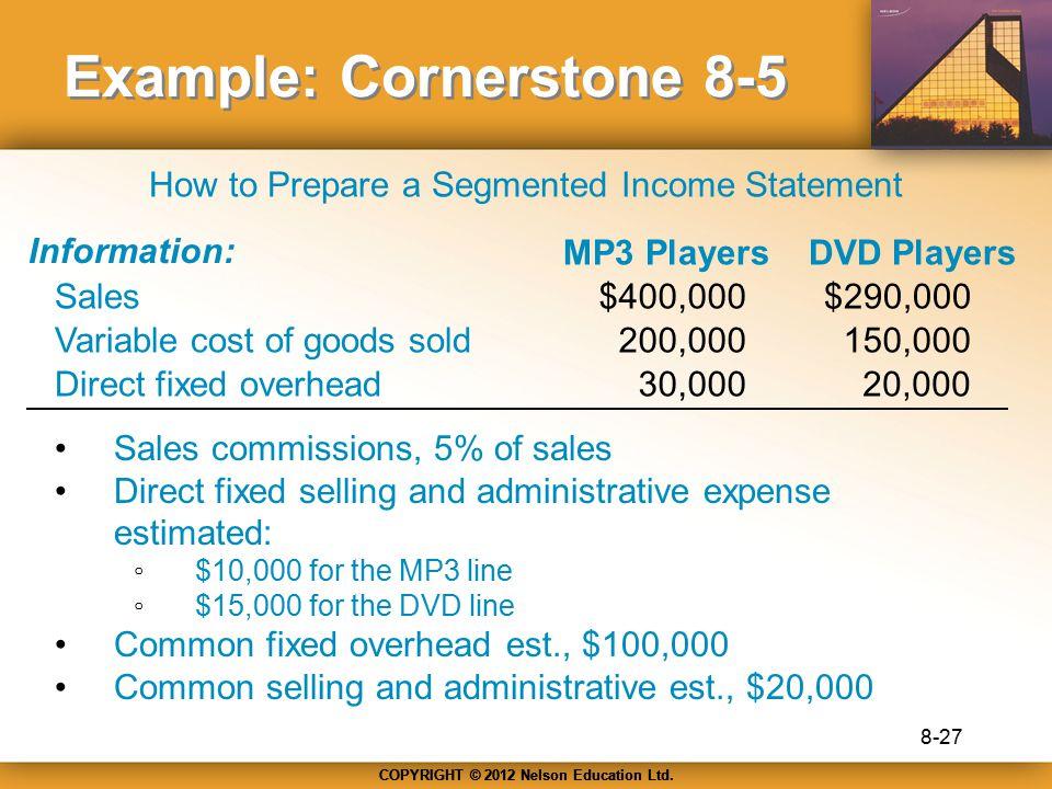 Example: Cornerstone 8-5