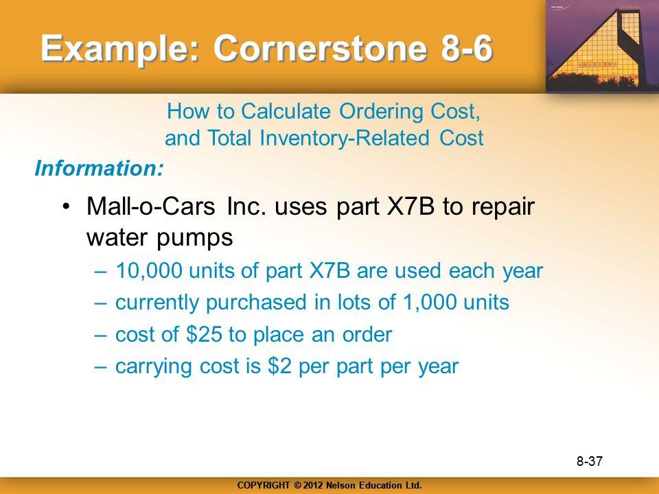Example: Cornerstone 8-6