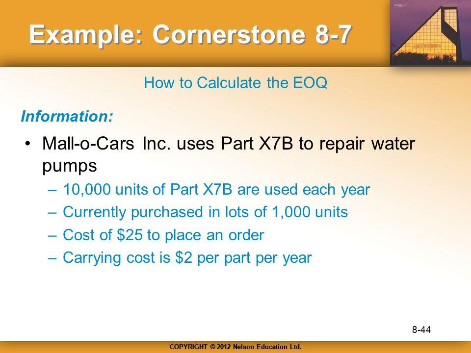 Example: Cornerstone 8-7