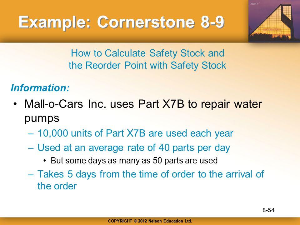 Example: Cornerstone 8-9