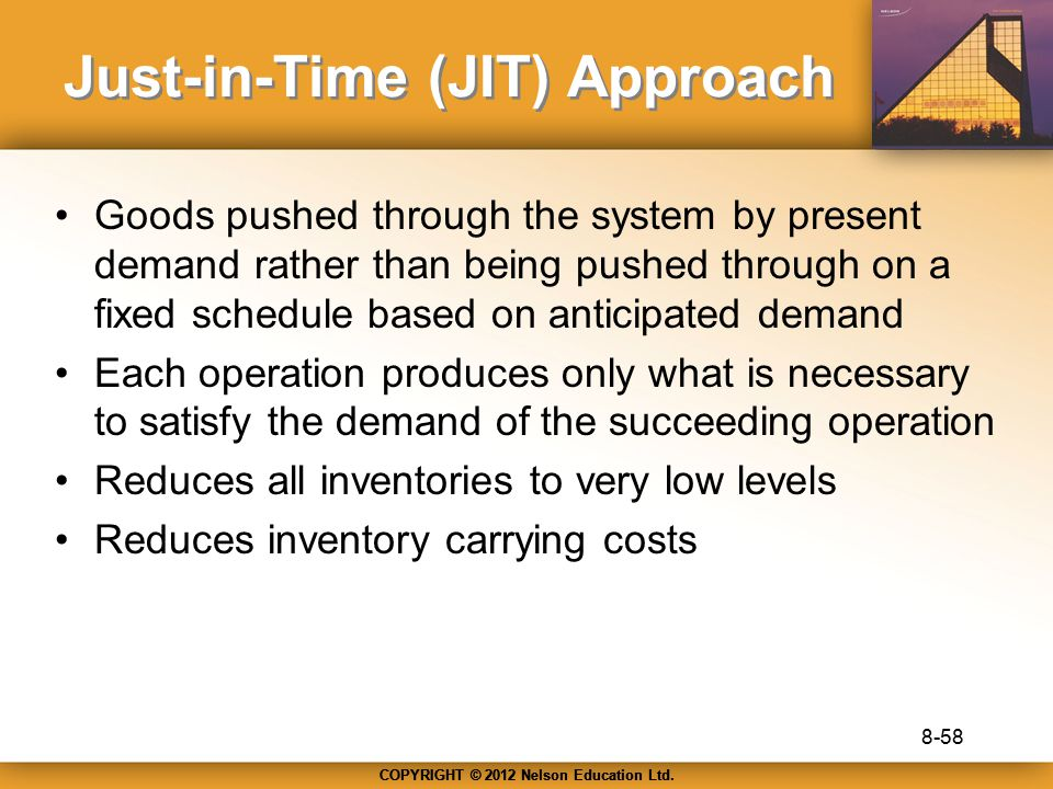 Just-in-Time (JIT) Approach