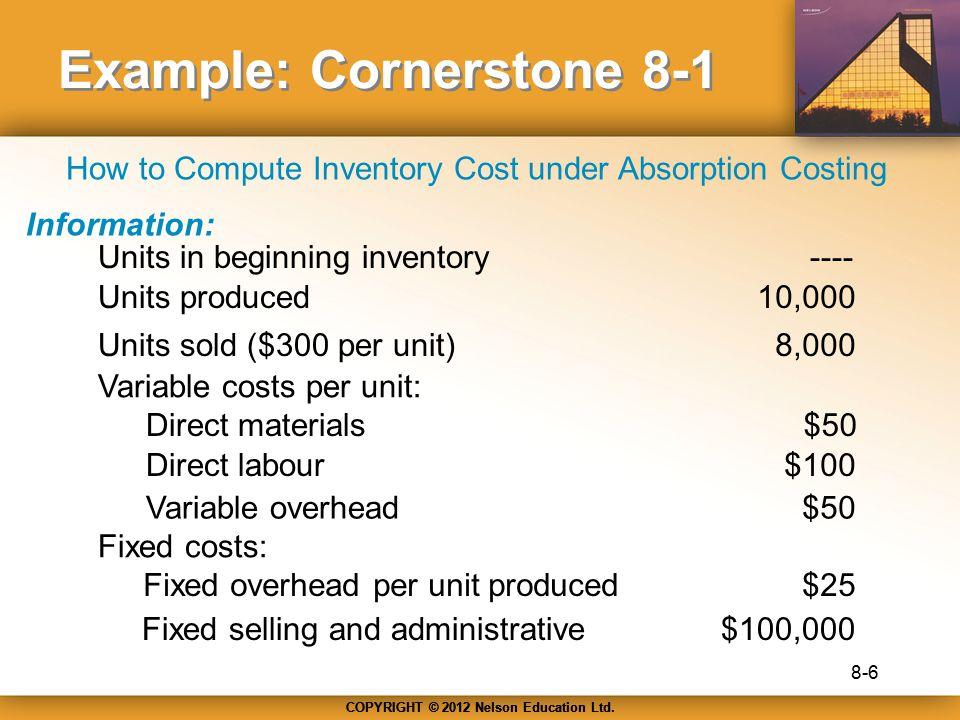 Example: Cornerstone 8-1