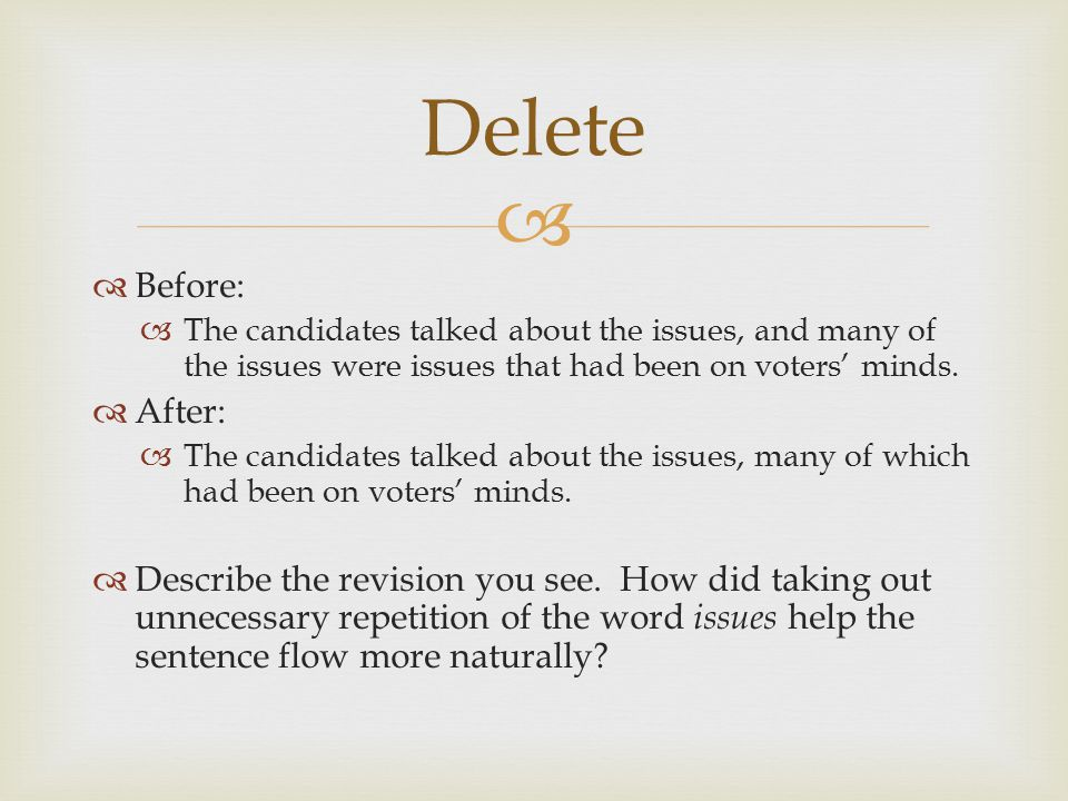 Delete Before: The candidates talked about the issues, and many of the issues were issues that had been on voters' minds.