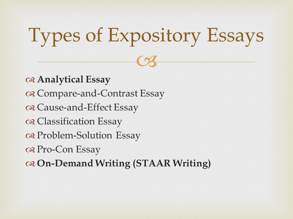types expository essay There is no need to panic if your teacher assigns you an expository essay take several minutes of your time to figure out the problem with professionals.