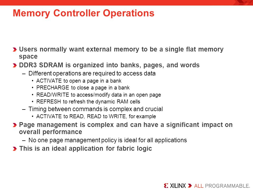 Memory Controller Operations