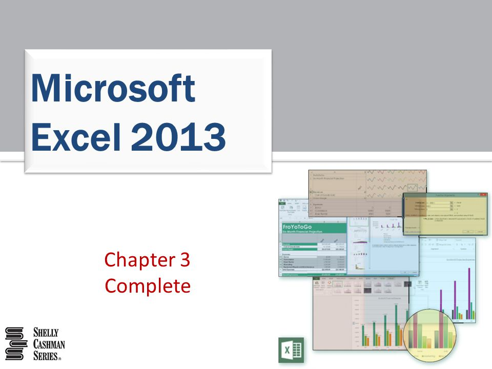 Microsoft Excel 2013 Chapter 3 Complete