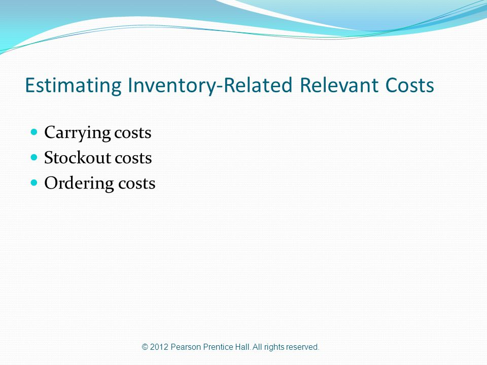 Estimating Inventory-Related Relevant Costs