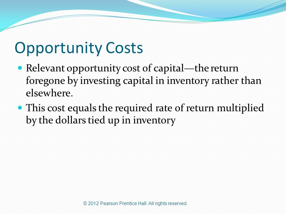 how to find opportunity cost of capital