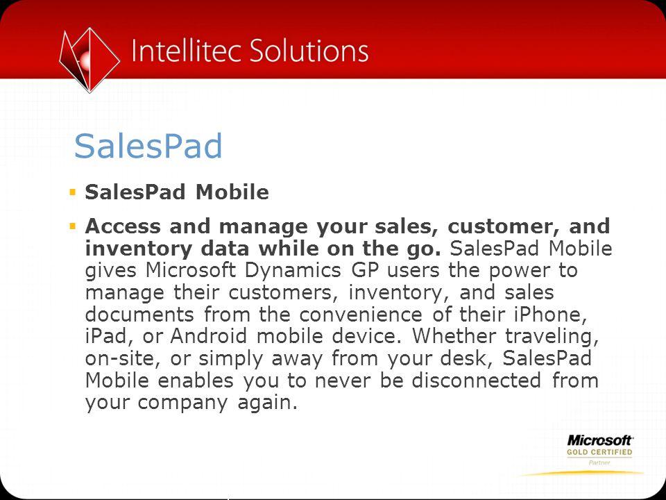 SalesPad SalesPad Mobile